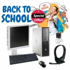 "Bundle Ref.HP SFF C2D-8400 GA/w/Mon.Nec 19"" GA/Σετ K/B-Mouse/Ακουστικά με Μικρ.και Webcam USB pn:C0074"