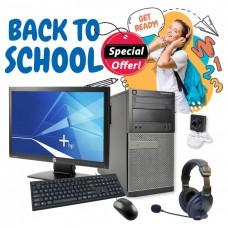 "Bundle Ref.HP Dell Tower i3-3225 GA+/st.win10 /Mon.HP LED 20"" GA/Σετ K/B-Mouse/Ακουστικά με Μικρ.και Webcam pn:C0075win10"