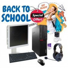 "Bundle Ref.Lenovo G4500 GA/Sticker: Win 10Pro/Mon.Nec19"" GA/Σετ K/B-Mouse/Ακουστικά με Μικρ.και Webcam USB pn: C0076"