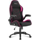 Sharkoon Elbrus 1 gaming chair Black/Pink (ELBRUS1PN) (SHRELBRUS1PN)