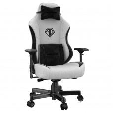 ANDA SEAT Gaming Chair AD18 T-PRO Light Grey/ Black FABRIC with Alcantara Strips pn:AD18-03-GB-F