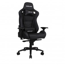 ANDA SEAT Gaming Chair AD18 T-PRO Black FABRIC with Alcantara Strips pn:AD18-02-B-F