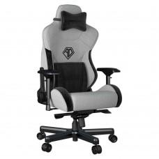 ANDA SEAT Gaming Chair T-PRO II Light Grey/ Black FABRIC with Alcantara Stripes pn:AD12XLLA-01-GB-F