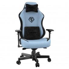 ANDA SEAT Gaming Chair AD18 T-PRO Light Blue/ Black FABRIC with Alcantara Strips pn: AD18-02-SB-F