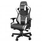 ANDA SEAT Gaming Chair AD12XL KAISER-II Black-White pn:AD12XL-07-BW-PV-W01