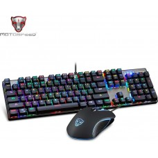 Motospeed CK888 Wired Mechanical Keyboard Mouse Combo RGB Red Switch Gr Layout pn:MT00137