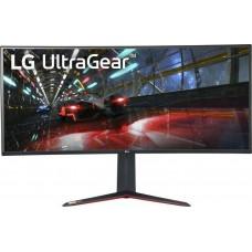 "LG MONITOR 38GN950-B, CURVED LCD TFT NANO IPS LED, QHD, 37.5"", 21:9, 450 CD/M2, 1000:1, 1MS, 144Hz, 3840x1600, 2x HDMI/DISPLAY PORT/USB-HUB/HP OUT, FREESYNC, GSYNC COMPATIBLE, GAMING, 3YW & 0 PIXEL."