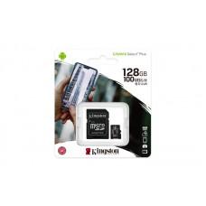 KINGSTON Memory Card MicroSD Canvas Select Plus SDCS2/128GB, Class 10, SD Adapter pn:SDCS2/128GB