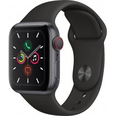 Apple Series 5 Watch  GPS 44mm Grey Aluminum Case with Sport Band - Black EU (APPMWVF2BS) MWVF2BS/A