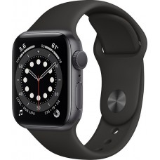Watch Apple Series 6 GPS 40mm Space Gray Aluminum Case with Black Sport Band (MG133TY/A)
