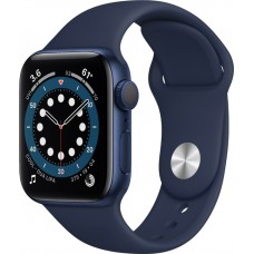Watch Apple Series 6 GPS 44mm Blue Aluminum Case with Deep Navy Sport Band (M00J3NF/A)