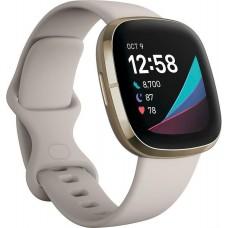FITBIT Sense Smartwatch - Λευκό / Χρυσό p/n: FB512GLWT