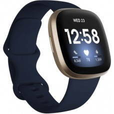 FITBIT Versa 3 Smartwatch - Μπλέ / Χρυσό pn:FB511GLNV