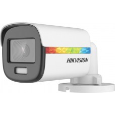 HIKVISION - DS-2CE10DF8T-F Κάμερα Mini Bullet ColorVu 2MP, με φακό 2.8mm και εμβέλεια λευκού φωτός 20 μέτρα.