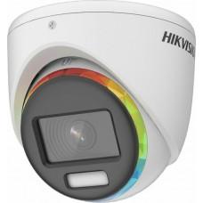 HIKVISION - DS-2CE70DF8T-MF Κάμερα Dome ColorVu 2MP, με φακό 2.8mm και εμβέλεια λευκού φωτός 20 μέτρα.