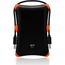 "SILICON POWER EXTERNAL HDD 2.5"" 2TB ARMOR A30 USB3.0, 5400RPM, POWER VIA USB, BLACK, 3YW."
