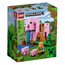 Lego Minecraft: The Pig House Building Set With Alex And Creeper (21170)