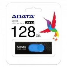 ADATA FLASH USB DRIVE 128GB AUV320-128G-RBKBL, USB3.2, RETRACTABLE, BLACK/BLUE, 5YW.