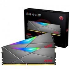 ADATA RAM DIMM 16GB KIT (2X8GB) SPECTRIX D50 AX4U32008G16A-DT50, DDR4, 3200MHz, CL16, RGB, TUNGSTEN GREY, RETAIL, LTW.