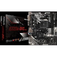 ASROCK MB A320M-DVS R4.0, SOCKET AMD AM4, CS AMD A320, 2 DIMM SOCKETS DDR4, DSUB/DVI-D, LAN GIGABIT, MICRO-ATX, 2YW.