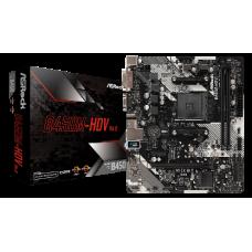 ASROCK MB B450M-HDV R4.0, SOCKET AMD AM4, CS AMD B450, 2 DIMM SOCKETS DDR4, D-SUB/DVI-D/HDMI, LAN GIGABIT, MICRO-ATX, 2YW.