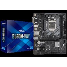 ASROCK MB B560M-HDV, SOCKET INTEL LGA1200 11th/10th GEN, CS INTEL B560, 2 DIMM SOCKETS DDR4, D-SUB/DVI-D/HDMI, LAN GIGABIT, MICRO-ATX, 2YW.