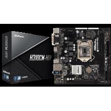 ASROCK MB H310CM-HDV, SOCKET INTEL LGA1151 8th/9th GEN, CS INTEL H310, 2 DIMM SOCKETS DDR4, D-Sub/DVI-D/HDMI, LAN GIGABIT, MICRO-ATX, 2YW.