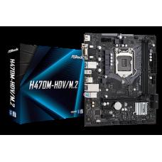 ASROCK MB H470M-HDV/M.2, SOCKET INTEL LGA1200 10th GEN, CS INTEL H470, 2 DIMM SOCKETS DDR4, D-SUB/DVI-D/HDMI, LAN GIGABIT, MICRO-ATX, 2YW.