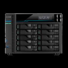 ASUSTOR NAS LOCKERSTOR 10 AS6510T, DT, 10 BAYS HOT SWAP, INTEL ATOM C3538 2.1GHz QC, 8GB (MAX 32GB) DDR4, Dual M.2 NVMe SSD CACHING, 2xUSB3.2, 10GbEx2, 2,5GbEx2, WoL, WoW, 3YW.