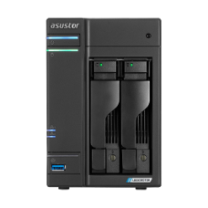 ASUSTOR NAS AS6602T LOCKERSTOR 2, DT, 2 BAYS HOT SWAP, INTEL CELERON J4125 2.0GHz QC (burst 2.7GHz), 4GB (MAX 8GB), SSD CACHING, 3xUSB3.2 GEN1, 2,5 GbEx2, HDMI 2.0, WoL, WoW, IR, 3YW.
