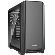 BEQUIET PC CHASSIS SILENT BASE 601 WINDOW BGW26, MIDI TOWER ATX, BLACK, W/O PSU, 1X14CM PURE WINGS 2 FAN, 1X14CM REAR PURE WINGS 2 FAN, 3YW.