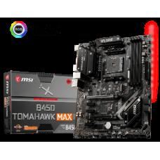 MSI MB B450 TOMAHAWK MAX II, SOCKET AMD AM4, CS AMD B450, 4 DIMM SOCKETS DDR4, DVI-D/HDMI, LAN GIGABIT, ATX, 3YW.