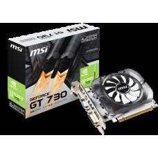 MSI VGA PCI-E NVIDIA GF GT 730 (N730-4GD3V2), 4GB/128BIT, DDR3, 15PIN DSUB/DL DVI-I/HDMI, 2 SLOT FANSINK, 3YW.