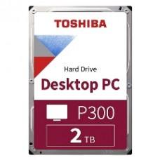 "TOSHIBA HDD 3.5"" 2TB P300 HDWD220UZSVA, SATA3, 5400RPM, CACHE 128MB, BULK, 2YW."