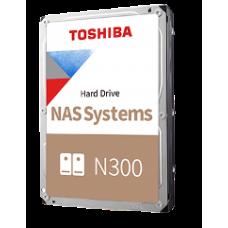 "TOSHIBA HDD 3,5"" 6TB NAS N300 HDWG640UZSVA, SATA3, 7200 RPM, CACHE 128 MB, 3YW."