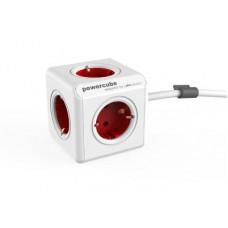 ALLOCACOC PowerCube Extended - Πολύμπριζο - Κόκκινο