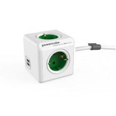 ALLOCACOC PowerCube Extended USB - Πολύμπριζο - Πράσινο
