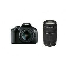 CANON EOS 2000D + EF-S 18-55mm + EF 75-300mm  - κάμερα DSLR - Μαύρο